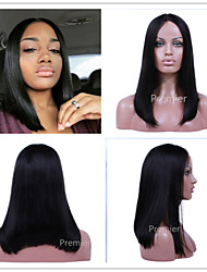 2016 Premierlacewigs Middle Part Long Bob Style Natural Looking Glueless Lace Wigs For Black Women