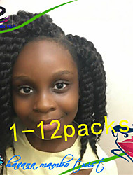 1Pack/Lot 12-24Inch Curly Synthetic Kanekalon Fiber Havana Twist Hair Extention Crochet Braids for Female and Children