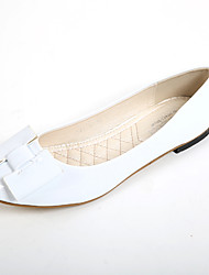 Women's Shoes Leatherette Flat Heel Comfort / Round Toe Flats Casual White