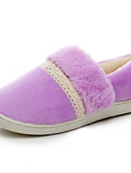 Women's Winter Comfort / Round Toe Cashmere Casual Flat Heel Multi-color