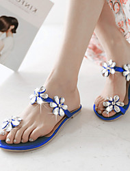 Women's Shoes Heel Flip Flops Sandals Outdoor / Dress / Casual Black / Blue / Red / Gold