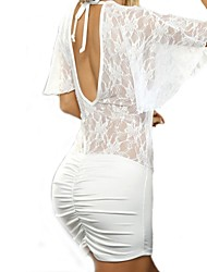 Women Lace Lingerie / Robes Nightwear Solid Lace / Polyester Women's