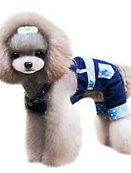 Dog Shirt / T-Shirt Red / Blue Dog Clothes Spring/Fall Jeans / Stars Cowboy / Fashion