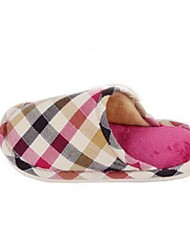 Women's Shoes Cotton Winter Round Toe / Slippers Casual Flat Heel Multi-color