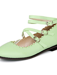 Women's Shoes Leatherette Flat Heel Round Toe Flats Wedding / Party & Evening / Dress / Casual Black / Green /