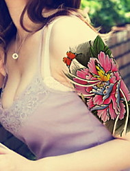 Peony Flower Butterfly  Waterproof Flower Arm Temporary Tattoos Stickers Non Toxic Glitter