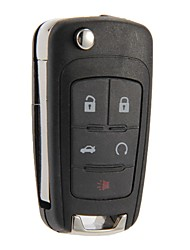 Folding Remote Key Case Shell Fob 5 Buttons For Chevrolet Camaro Cruze