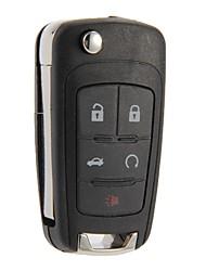 plegable shell remoto caso clave fob 5 botones para Cruze de Chevrolet Camaro