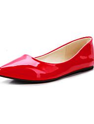 Women's Shoes Patent Leather Flat Heel Pointed Toe Flats Office & Career / Dress / CasualBlack / Yellow / Royal Blue /