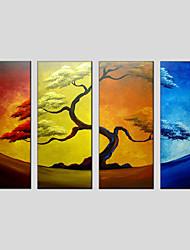 Blume Stil Ölgemälde Canvas-Material mit gestreckten Rahmen bereit Größe zu hängen 90 * 30cm * 4pcs