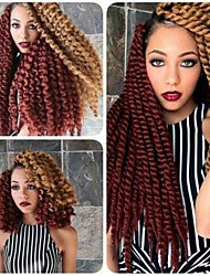 mulpitle 1pack cor / lot 12-24 '' 100% tranças kanekalon cabelo sintético havana torção do crochet para encaracolado afro