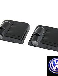 2pcs для VOLKSWAGEN VW беспроводной Светодиодный проектор света лампу освещения