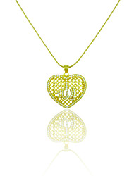 Pendants Metal / Rhinestone Heart Shape As Picture 1