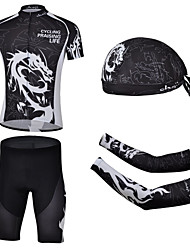 CHEJI Cycling Bike Short Sleeve Suit Pirate Scarf & Sleeves