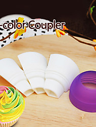 Tri-color Icing Piping Decorating Bag Nozzle Converter Cream Coupler Cake Tool