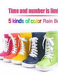 Candy Colors Girls Boys Rainboots Kids Galoshes High Quality 100% Rubber Size 24-29# Childrens Rain Boot Shoes