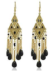 2016 verão nova moda 18 K banhado a ouro brincos de borla