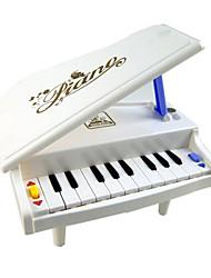 pouco de piano abs brinquedo da música branco para crianças