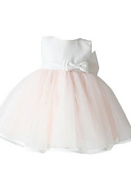 Girl's Pink Dress,Ruffle / Bow Polyester Summer