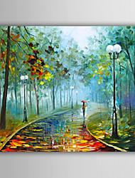 Peint à la main Abstrait / Paysage / Fantaisie / Paysages AbstraitsStyle européen Un Panneau Toile Peinture à l'huile Hang-peint For