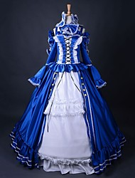 top vente robe cosplay partie gothique longue robe de belle