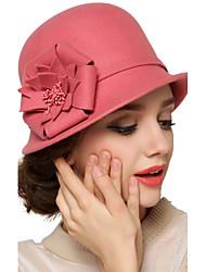 Women Wool Bucket Hat,Vintage / Cute / Party / Work / Casual Spring / Summer / Fall / Winter / All Seasons