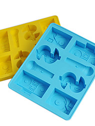 Hip-Hop Ice Mould Silicone Ice Cubes Tray Pudding Jelly Mold (Random Color)
