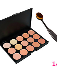 Foundation BB Cream Makeup Brush Tool+15 Colors Contour Face Cream Makeup Concealer Palette