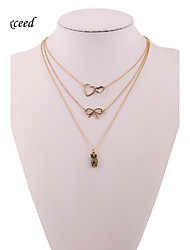 Necklace Strands Necklaces Jewelry Wedding / Party / Daily / Casual Alloy / Silver Plated Gold 1set Gift