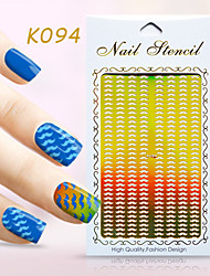 New Nail Art Hollow Stickers Flower Beard Christmas Tree Geometric Image  Design  Nail Art Beauty K091-094