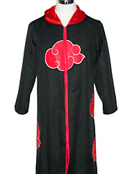 Inspired by Naruto Akatsuki Anime Cosplay Costumes Cosplay Suits Print Black Cloak