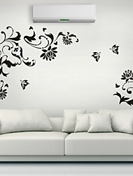 Romance / Mode / Floral Stickers muraux Stickers avion,PVC S:45*56cm/ M:54*67cm / L:70*85cm