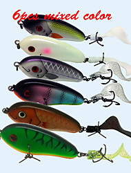 6pcs/lot  High Quality 7CM 27.5G Hard Bait Slow Sinking Soft Tail Jerkbait Swimbait Pike Muskie Fishing lures