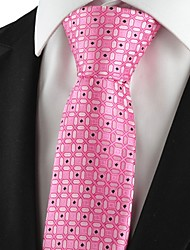 New Graphic Pink Mens Tie Suit Necktie Formal Wedding Party Holiday Gift KT1034