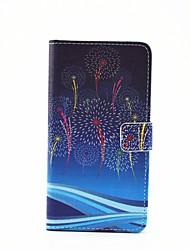 Для Кейс для  Samsung Galaxy Бумажник для карт / со стендом / Флип / Магнитный / С узором Кейс для Чехол Кейс для ОдуванчикИскусственная