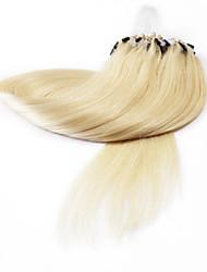 neitsi® 20inch micro anneau boucles extensions de cheveux humains sonne cheveu humain 60 #