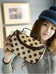 Fashion Portable Cosmetic Retro Dot  Pattern Makeup Hand Case Bag Makeup Cosmetic Pouch Bag Travel Bag Toiletry Kit