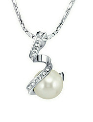 Women's Pendant Necklaces Chain Necklaces Pearl Necklace Crystal Pearl Imitation Pearl Alloy White Gray Jewelry Party Daily Casual 1pc