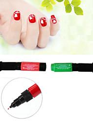 3pcs/6colors Hot Designs Double Nail Polish Pen Nail Art Pen