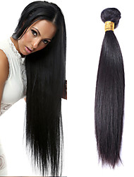 "1Pcs /Lot 50g 8""-26""Brazilian Straight Virgin Hair Wefts Natural Black 1B# Human Hair Bundles"