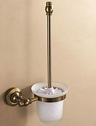 Contemporary Space Aluminum Antique Copper Wall Mounted Toilet Brush Holder