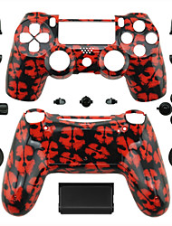 Replacement Controller Case for PS4 Controller (Red Ghost)