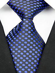 Krawatte(Schwarz / Blau,Polyester)Punkte