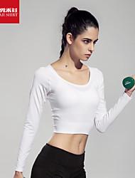 Mulheres tops Esporte Respirável / Redutor de Suor / Macio Branco S / M / L Ioga / Pilates / Fitness / Corrida-Outros