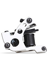 Professional 10 Wraps Coil Tattoo Machine For Shader Liner White Color Handmade Tattoo Machine