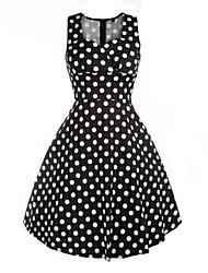 Classic & Traditional Lolita Sleeveless Medium Length Black Cotton Lolita Dress