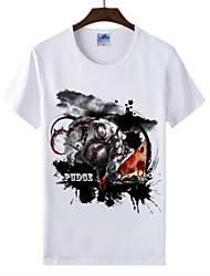 Cotton Lycra Men's T-shirt/World of Warcraft Wow Ink Series 1Pc Pudge the Butcher