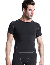 Running Compression Clothing / T-shirt / Tops Men's Short Sleeve Quick Dry / Compression / Lightweight Materials / SoftPolyester /