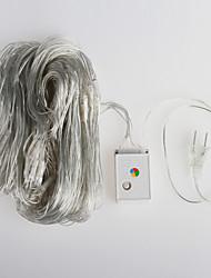 2pcs 200 conduit 3m a mené la lumière de chaîne (110v)
