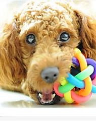 Perros Juguetes Juguete Mordedor Campana Caucho Multicolor